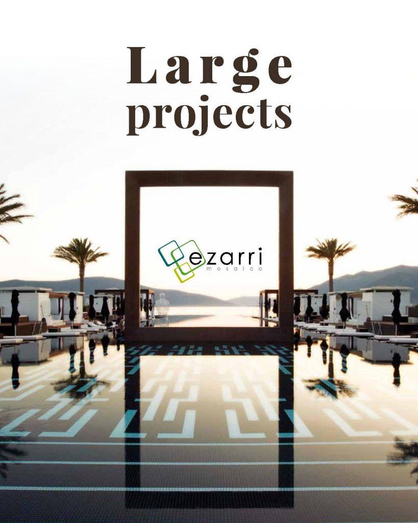 Ezarri en este catálogo nos muestra trabajos realizados con su colección de azulejos cerámicos diseñados para exteriores