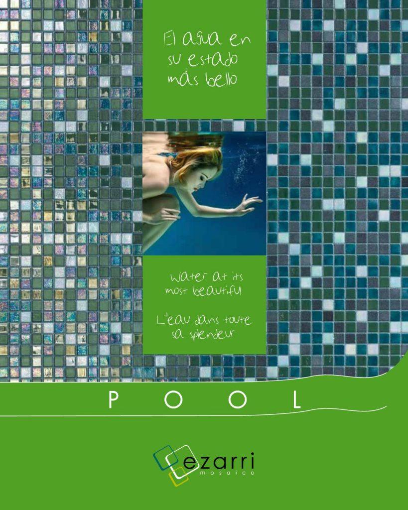 La serie pool nos ofrece azulejos diseñados para la decoración de piscinas
