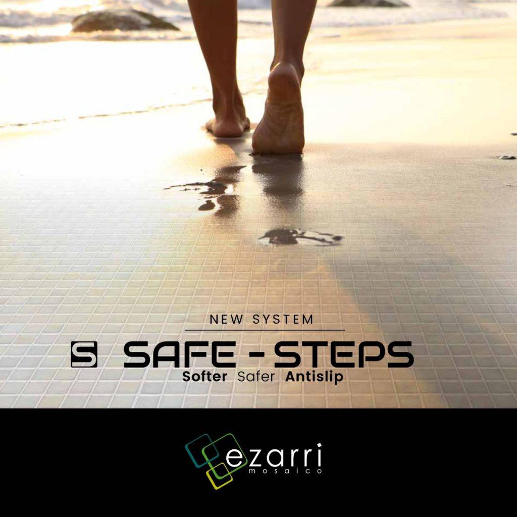 Esta colección introduce un nuevo sistema antideslizante en todos sus pavimentos, ideal para dar pasos seguros
