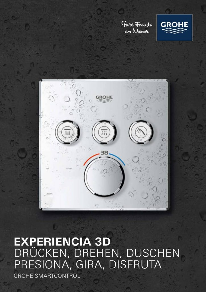 Grohe ofrece una serie de grifos con control inteligente para el baño con experiencia 3D