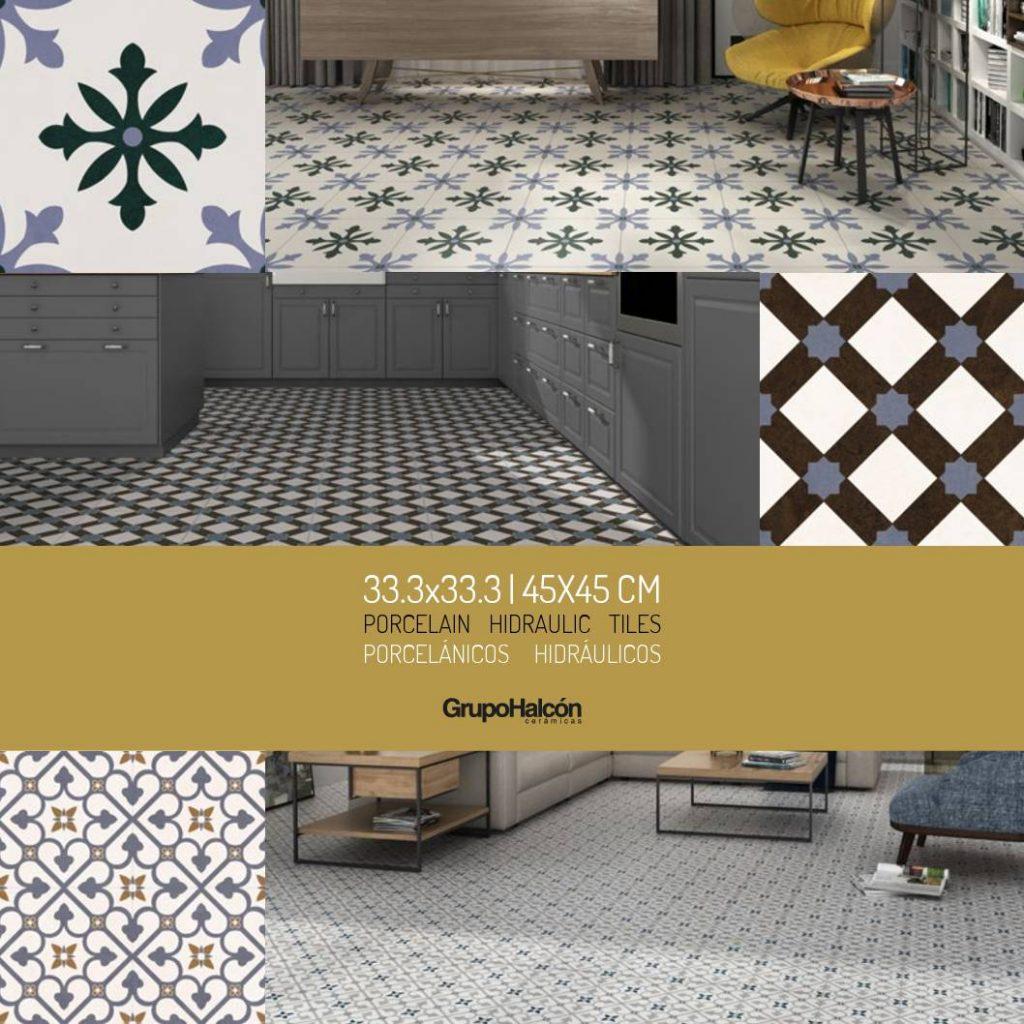 Catálogo se suelos hidráulicos y porcelanitas con multitud de estilos y colores