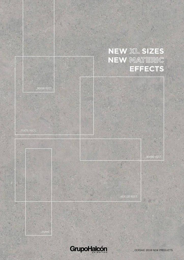 Este catálogo nos trae azulejos de grandes dimensiones con nuevos efectos de materiales