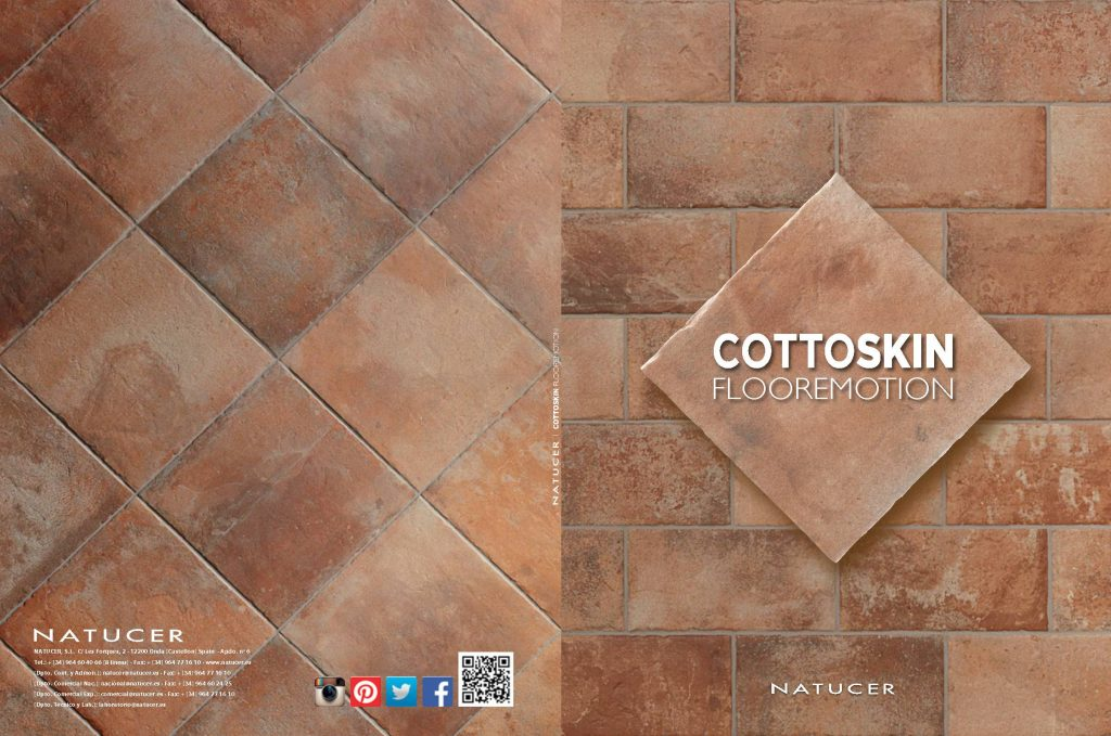 Este catálogo nos ofrece piezas cuadradas de cerámica roja ideales para suelos exteriores