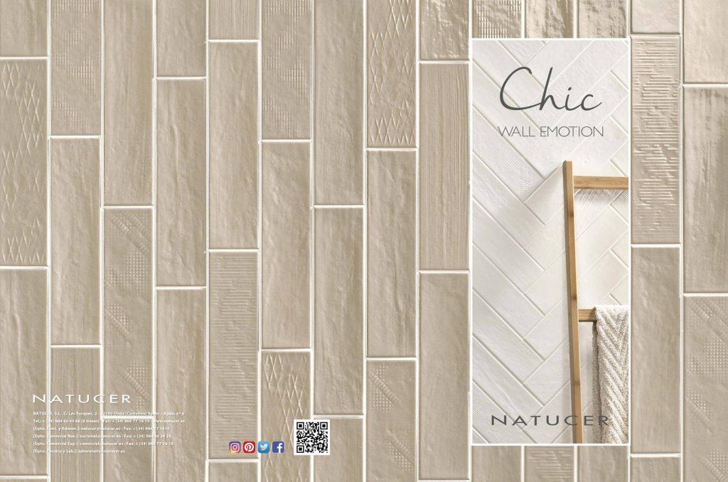 La serie Chic ofrece revestimientos cerámicos para paredes interiores