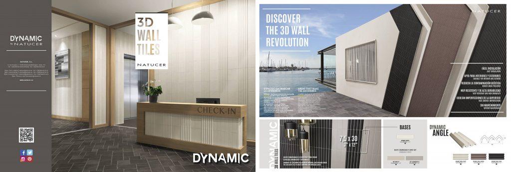 La serie Dynamic ofrece las últimas tendencias de revestimientos para paredes en 3D.