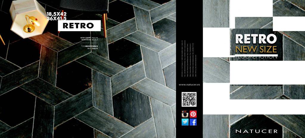 La serie Retro ofrece revestimientos con textura de madera de colores oscuros