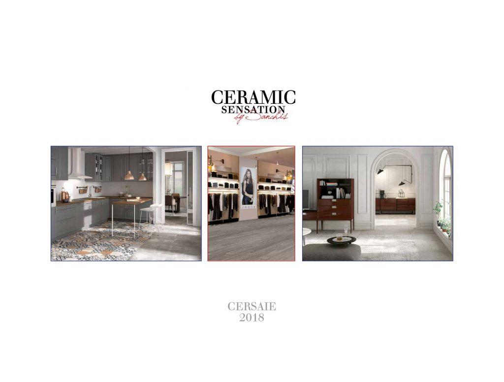 Pavimentos, revestimientos y baldosas cerámicas con diferentes texturas, tamaños y colores de la serie Cersai.