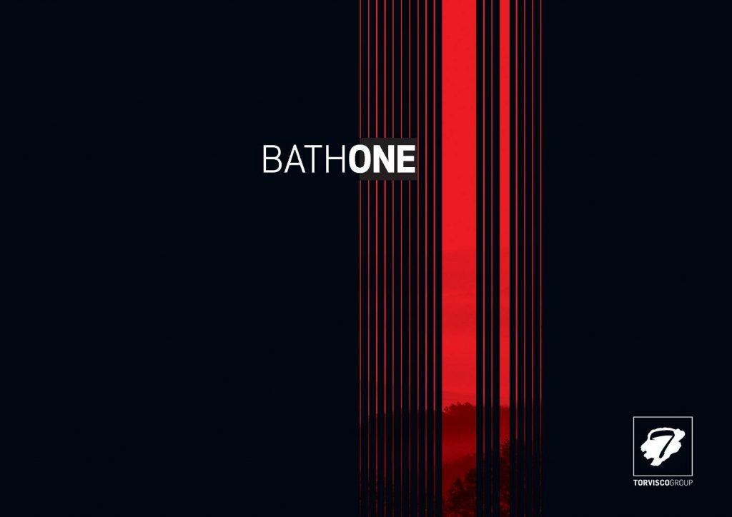 Catálogo BathOne que ofrece productos para baños como mamparas, platos de ducha